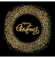 Golden New Year backdrop vector image vector image