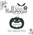 halloween party silhuette design template with vector image