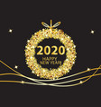 happy new year 2020 glowing gold background vector image vector image