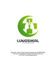 health lungs logo designs lungs with plus symbol vector image vector image