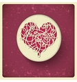 Heart in vintage style vector image