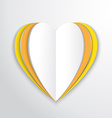 hearts flat background vector image