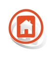House plate sign sticker orange vector image vector image