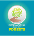 international day of forests logo icon design vector image