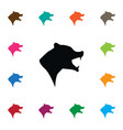 isolated wild icon grizzly element can be vector image vector image