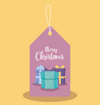 label gift boxes present of christmas vector image vector image