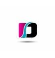 Letter D logo icon design template elements vector image