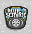 logo for tire service vector image vector image