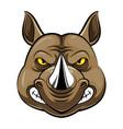 mascot head an rhino vector image