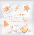 merry christmas and happy new year elegant vector image vector image