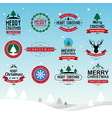 Merry Christmas and Happy New Year typographic bac vector image vector image