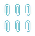 metal clip set icon flat isolated vector image vector image
