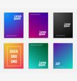 minimal cover design set of geometric pattern vector image vector image