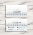 minimal white business card design vector image vector image