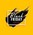 modern black friday background with ink effect vector image