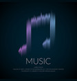 modern logo or emblem music note in the form vector image