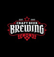 modern professional label for a craft beer vector image vector image