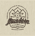 Mountain camp emblem for t shirt vector image vector image