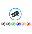 new tag rounded icon vector image vector image