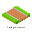 park pavement icon isometric style vector image vector image