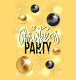 party poster merry christmas holiday vector image vector image