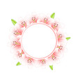 pink lily banner wreath vector image vector image