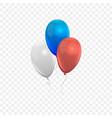 realistic air balloons set vector image vector image
