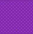 repeating purple heart pattern background design vector image vector image