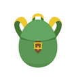 rucksack icon flat style vector image vector image