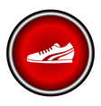 Running Shoe Icon on White Background vector image vector image