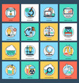 science and technology flat icons vector image vector image