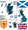 Scotland map vector image