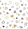 seamless pattern gold and black hearts on vector image vector image