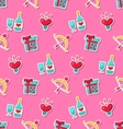 seamless pattern with traditional objects vector image vector image