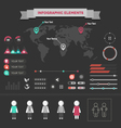 set elements infographics vector image