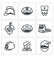 Set of Emergency Services Icons vector image vector image