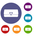 small wallet icons set vector image vector image