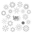 suns icons vector image vector image