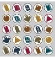 Tag icons set retail theme simplistic symbols vector image vector image