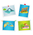 taiwanese attractions on images attached to wall vector image vector image
