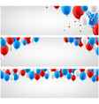 white banners set with balloons vector image vector image