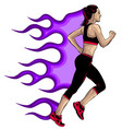 woman running in city park vector image