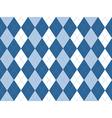 Blue white argyle seamless pattern vector image
