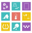 Color icons for Web Design set 30 vector image
