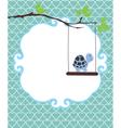 invitation card turtle vector image
