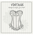 Vintage background with underwear vector image