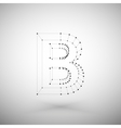 Three dimensional mesh stylish alphabet letter vector image
