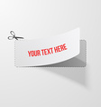 Coupon with Scissors Sign vector image