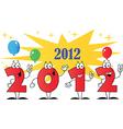 2012 New year cartoon vector image vector image