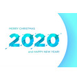 2020 liquid numbers christmas banner xmas vector image vector image
